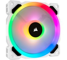 Corsair Air Series LL120 RGB, 120mm, bílý