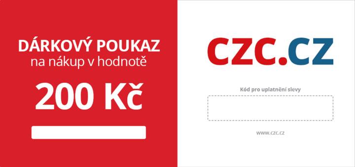 200Kč dárkový poukaz na CZC.cz