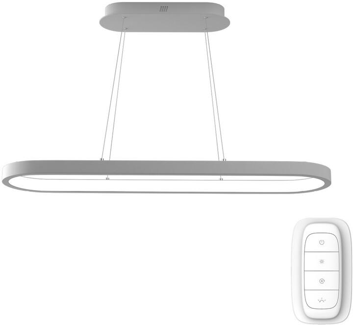 IMMAX NEO HIPODROMO Smart závěsné svítidlo 120*30cm, 42W, bílá