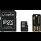 Kingston Micro SDHC 8GB Class 10 + SD adaptér + USB čtečka