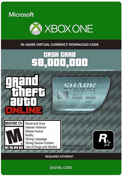 Grand Theft Auto V: Megalodon Shark Card (Xbo ONE) - elektronicky