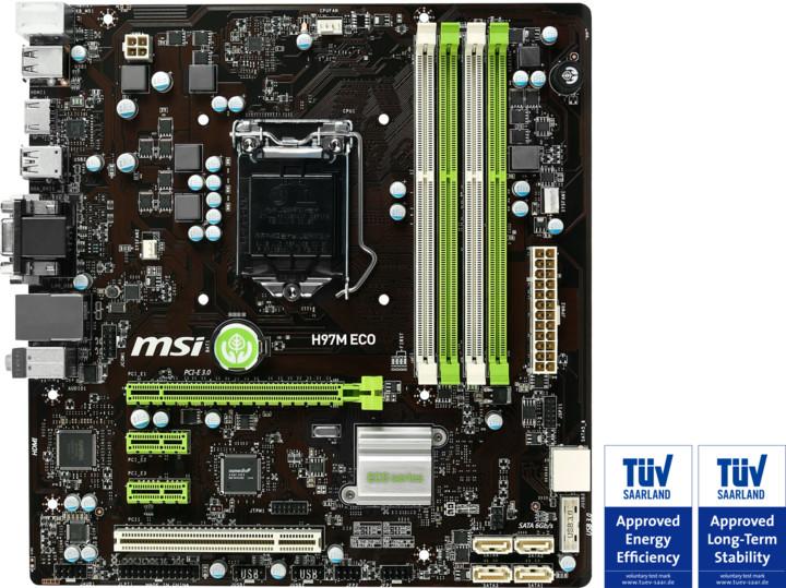 MSI H97M ECO - Intel H97