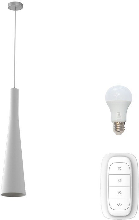 IMMAX NEO TROMPETA závěsné svítidlo bílé sklo včetně Smart zdroje E27 RGBW