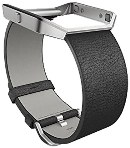 Fitbit Blaze Accessory Band, L, leather, černá