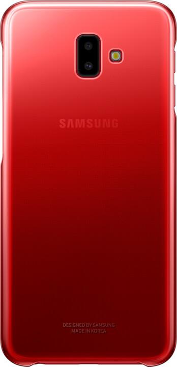 Samsung pouzdro Gradation Cover Galaxy J6+, red