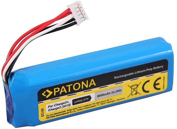 Patona baterie pro reproduktor JBL Charge 2+, 6000mAh, 3,7V Li-Pol