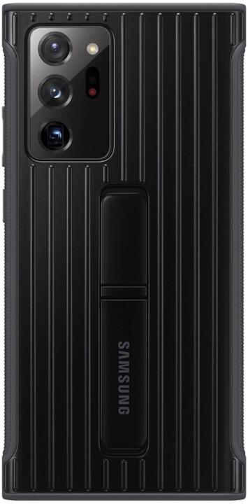 Samsung tvrzený ochranný kryt pro Samsung Galaxy Note20 Ultra, se stojánkem, černá