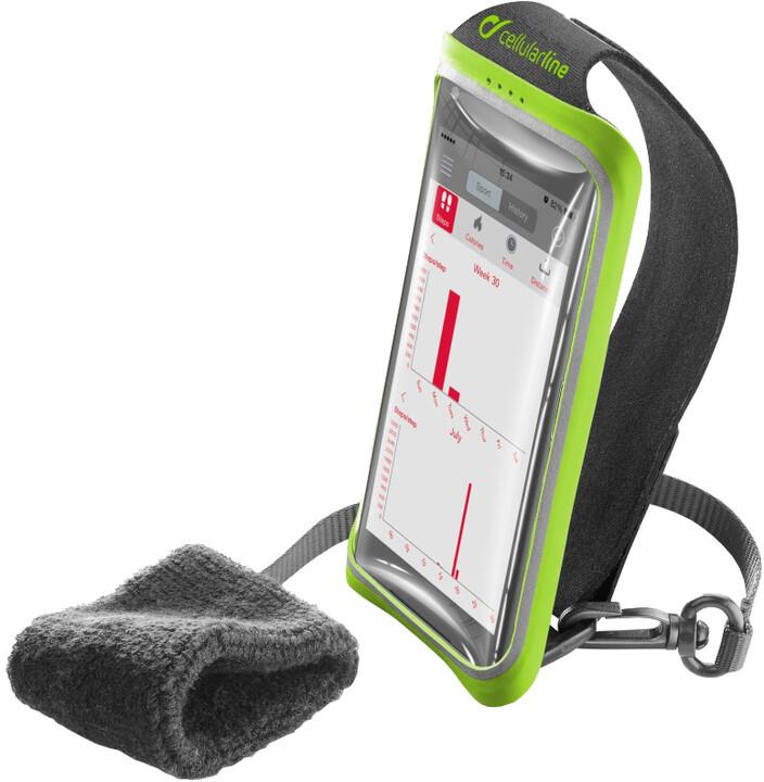 """CellularLine sportovní pouzdro HANDBAND, pro smartphony do velikosti 5,2"""", černá"""
