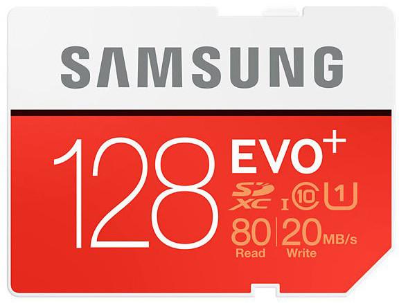 Samsung SDXC EVO+ 128GB UHS-I