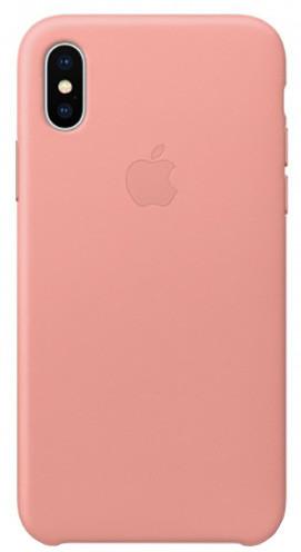 Apple kožený kryt na iPhone X, bledě růžová