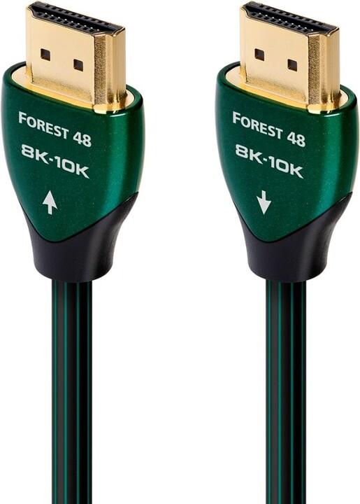 Audioquest kabel Forest 48 HDMI 2.1, M/M, 10K/8K@60Hz, 1.5m, černá/zelená