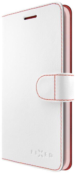 FIXED FIT pouzdro typu kniha pro Apple iPhone X, bílé