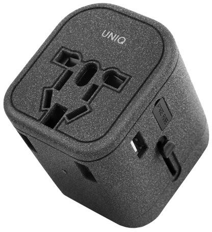 UNIQ cestovní nabíječka Voyage PD World Adapter PD33, charcoal