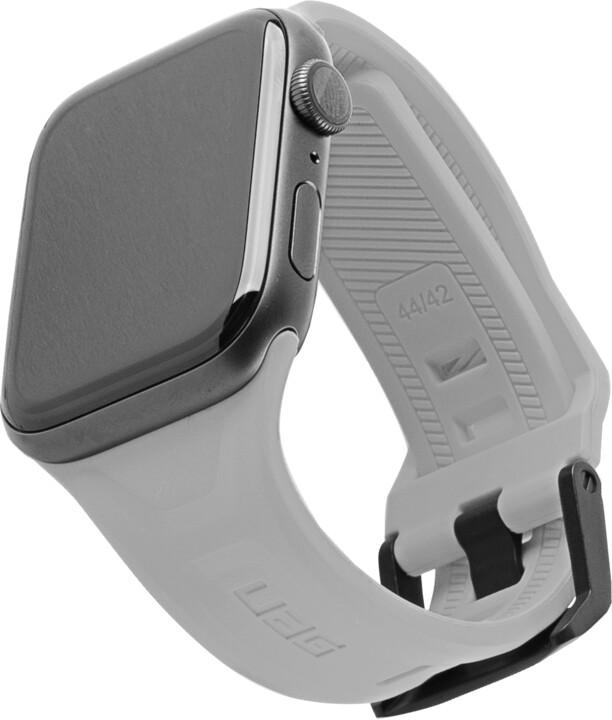 UAG silikonový řemínek Scout Strap pro Apple Watch, 42/44mm, šedá