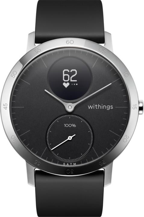 b41b8b9bb Withings chytré hodinky Steel HR (40mm) - černá HWA03-40black-All ...