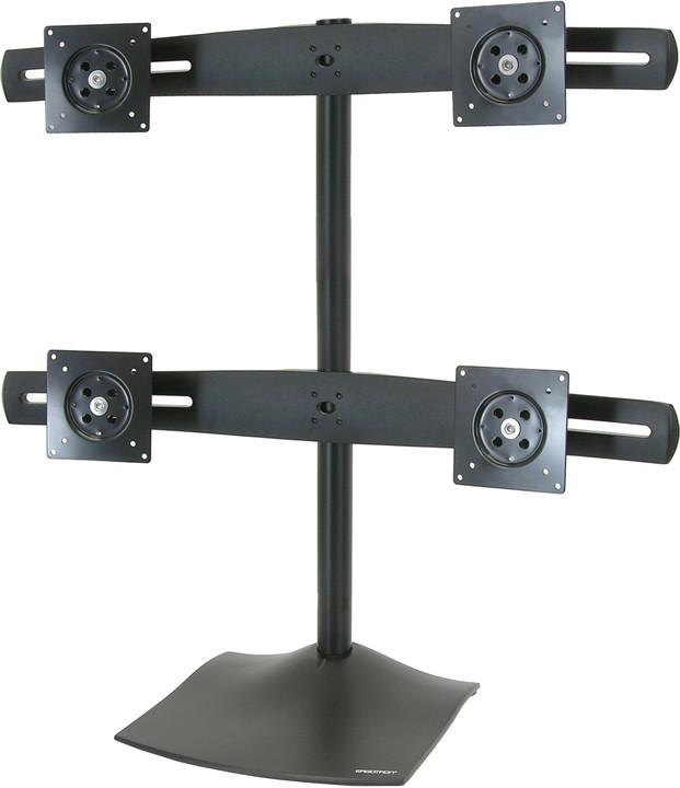 Ergotron DS100 Quad-Monitor Desk Stand - Stojan pro čtyři ploché panely, černá - hliník, ocel