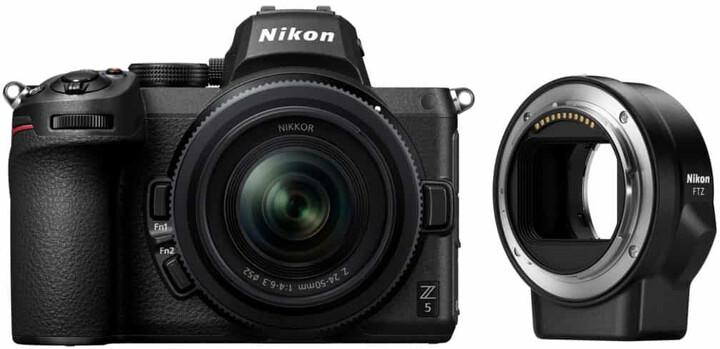 Nikon Z 5 + 24-50mm f/4.0-6.3 + FTZ adapter