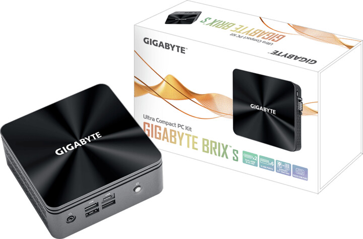 GIGABYTE Brix GB-BRi3H-10110, černá-šedá