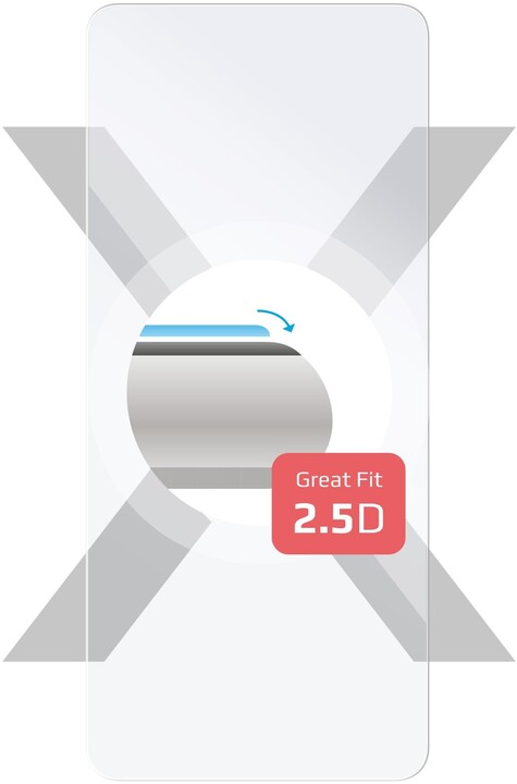 FIXED Ochranné tvrzené sklo pro Lenovo K12 Pro, lepení přes celý displej, čirá