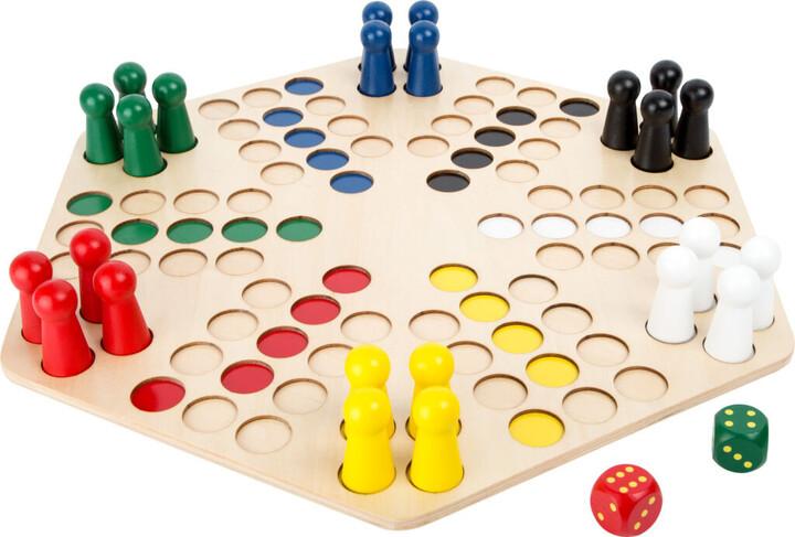 Desková hra Small Foot Člověče nezlob se, dřevěné
