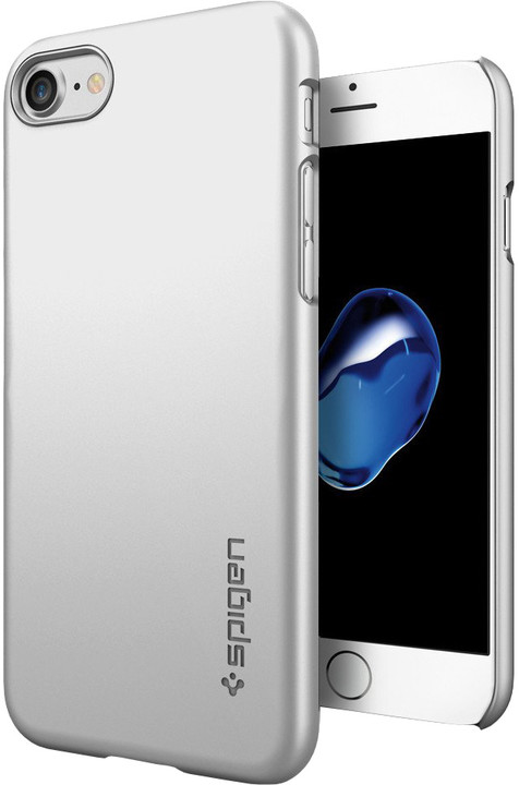 Spigen Thin Fit pro iPhone 7, satin silver