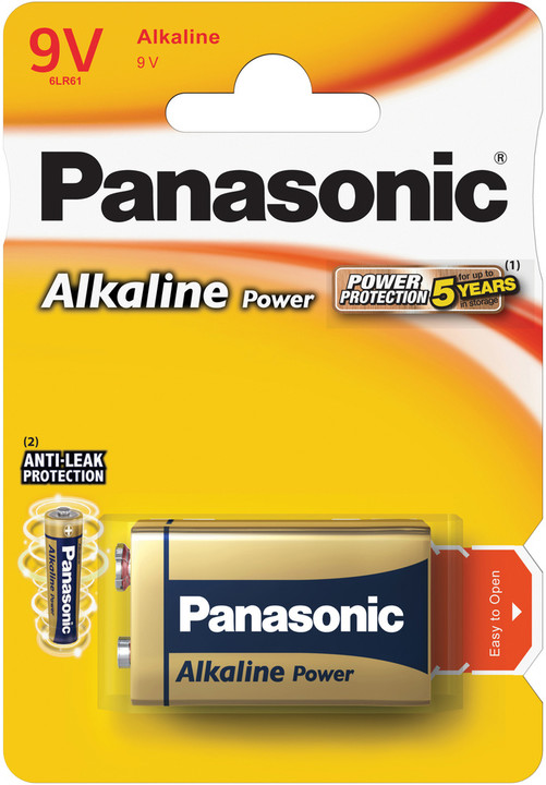 Panasonic baterie 6LR61 1BP 9V Alk Power alk