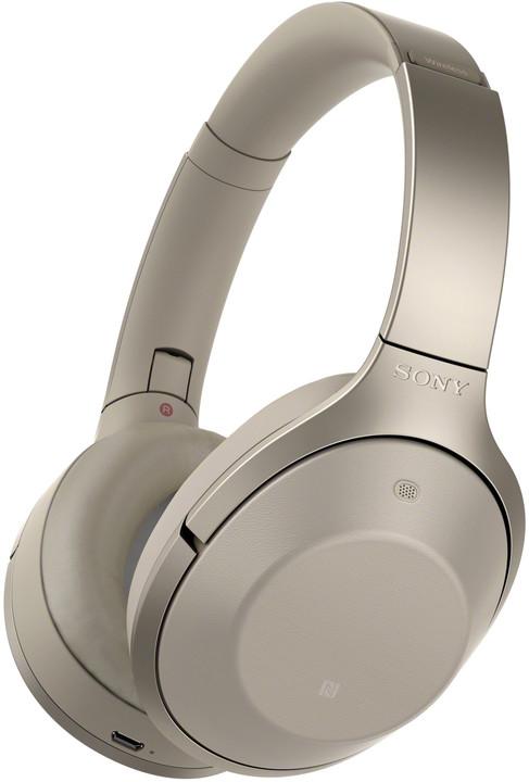 Sony MDR-1000X, béžová