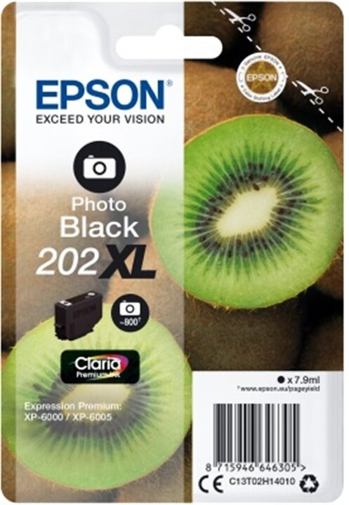 Epson C13T02H14010, 202XL claria photo black