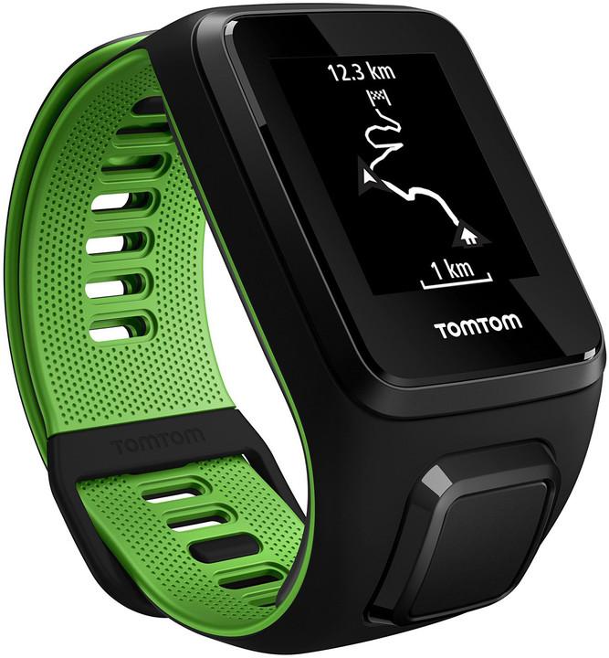 TOMTOM Runner 3 Music (S), černá/zelená + bluetooth sluchátka