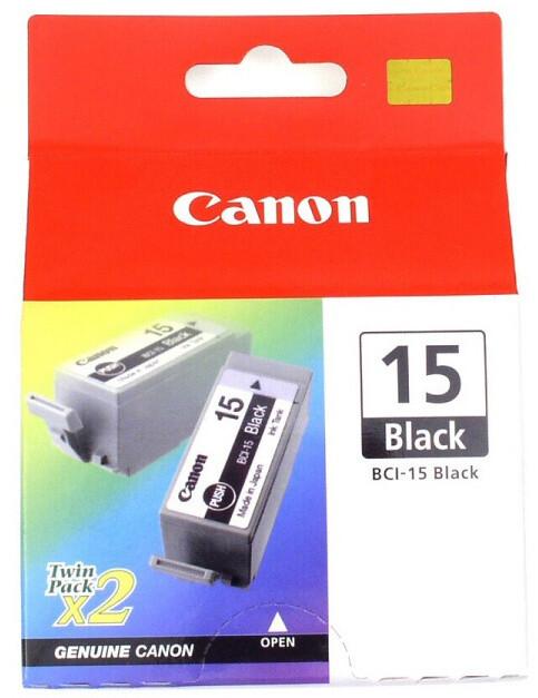 Canon BCI-15Bk, černá 2ks