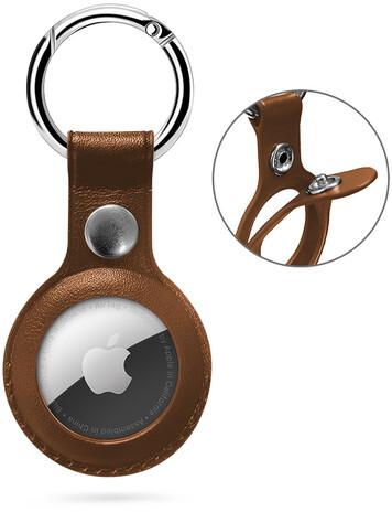 Epico klíčenka na Apple AirTag, kožená, hnědá