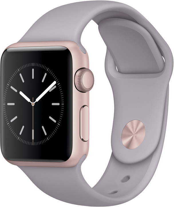 d1916bb2105 Apple Watch Sport 38mm Rose Gold Aluminium Case with Lavender Sport Band
