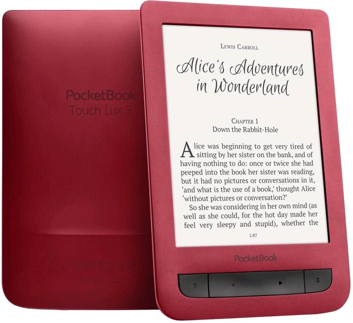"""PocketBook 626 Touch Lux 3, 6"""" E-ink, červená"""