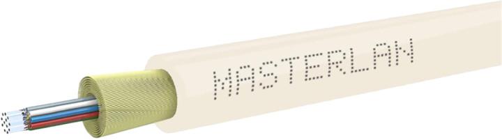 Masterlan DROPX optický kabel - 24vl 9/125, SM, LSZH, slonovinová kost, G657A2, 1m