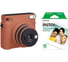 Fujifilm Instax Square SQ1, oranžová + film 1x10 - 70100148679