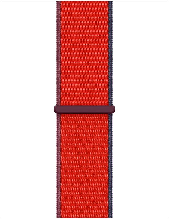 Apple řemínek pro Watch Series, provlékací sportovní, 40mm, červená (PRODUCT RED)