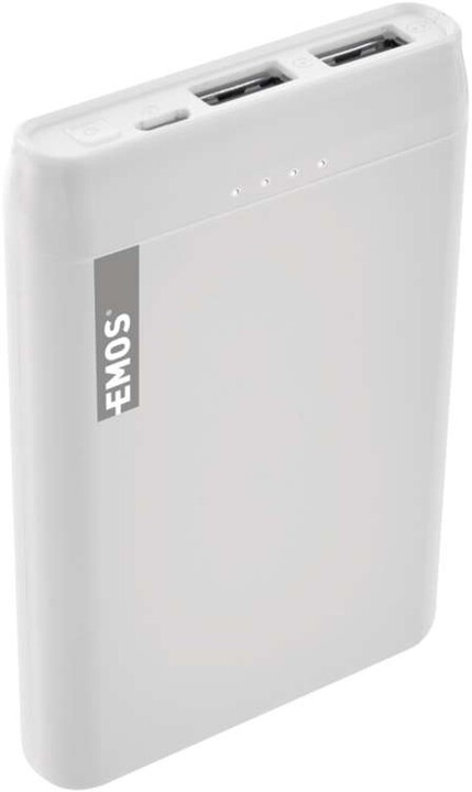 Emos Alpha 5 powerbanka, 5000 mAh + kabel USB-C, bílá