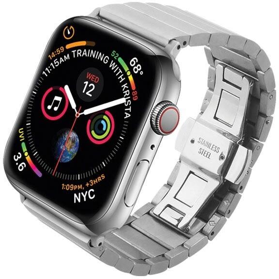 COTEetCI řemínek pro Apple Watch, kovový, 42 - 44mm, stříbrná