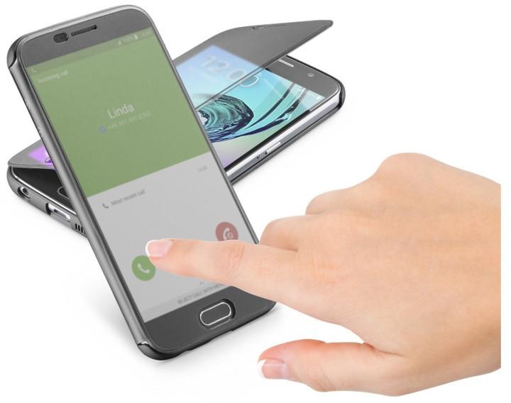 Cellularline TOUCH pouzdro typu kniha s dotykovým čelním krytem pro Galaxy A5 (2016), černé