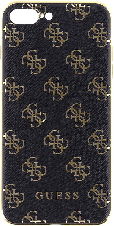 Guess 4G 2017 Soft Pouzdro Black/Gold pro iPhone 7 Plus