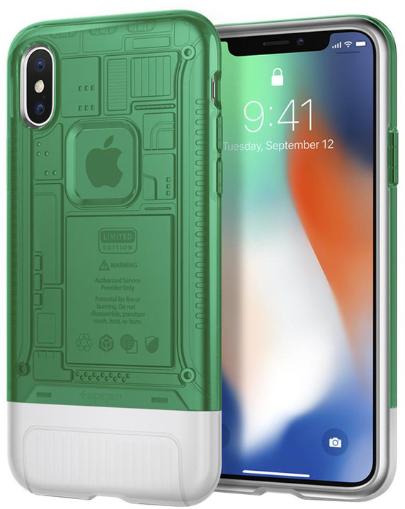 Spigen Classic C1 pro iPhone X, zelená
