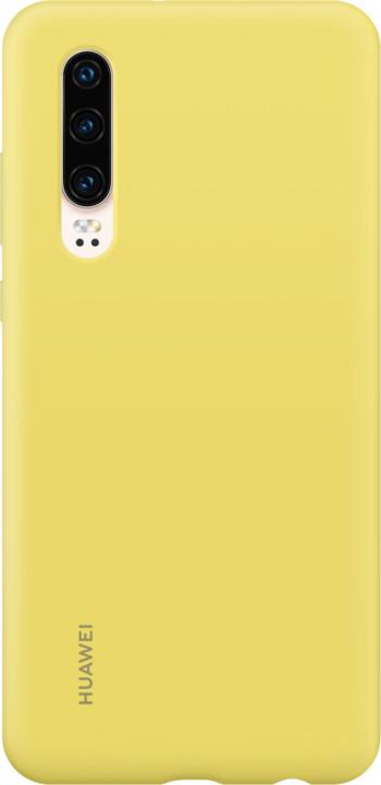 Huawei Original Silikonové Car pouzdro pro P30, žlutá
