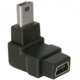 DeLock adaptér USB mini B 5-pin 90° samec na USB mini B samice