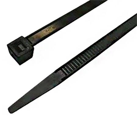 MaxLink stahovací páska, 29cm, šířka 4,8mm, 100ks, černá