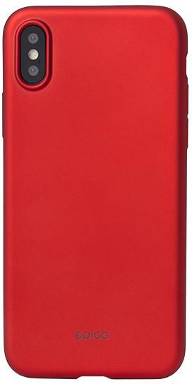 EPICO GLAMY pružný plastový kryt pro iPhone X - červený
