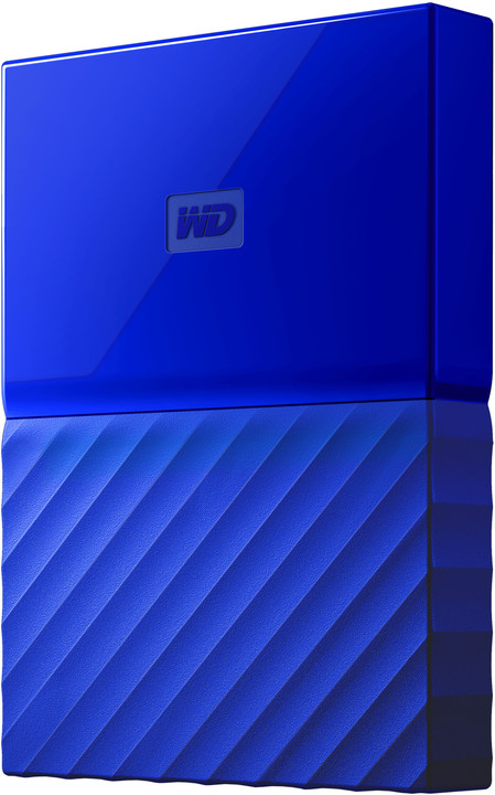 WD My Passport - 4TB, modrá