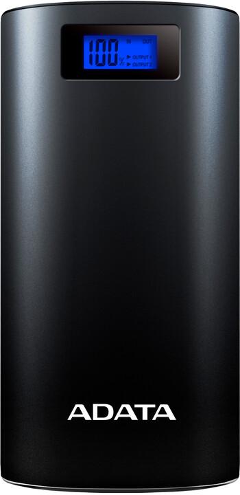 ADATA powerbank P20000D, 20000mAh, LED svítidlo, modro-šedá