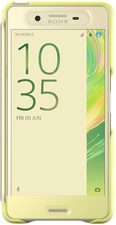 Sony SCR56 Style Cover Touch Xperia XP, limetková/zlatá