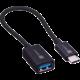 CONNECT IT CONNECT IT USB-A -> USB-C (Type C) kabelová redukce, OTG, černá, 15 cm