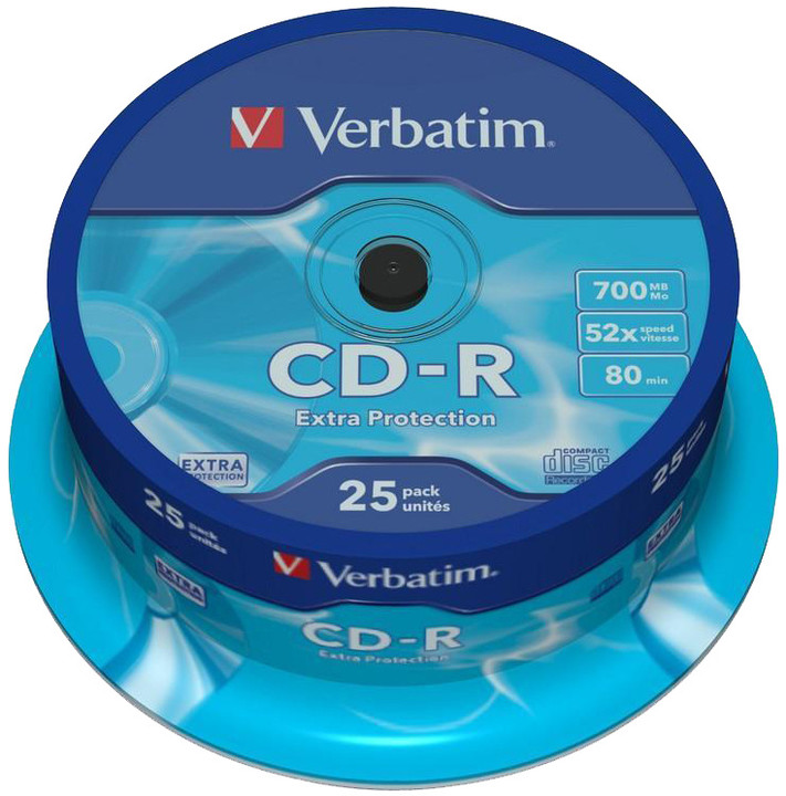 Verbatim CDR Extra Protection 52x 80 minut spindl 25ks
